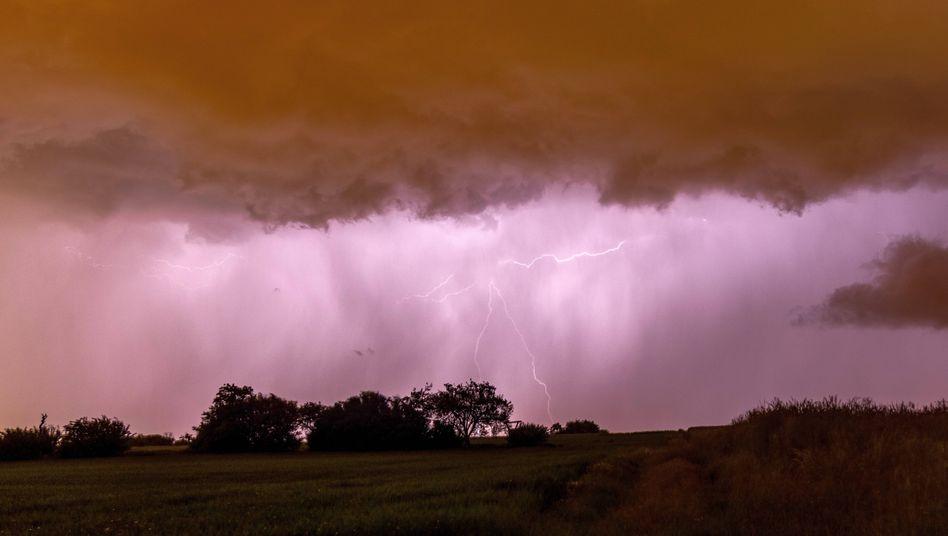 Gewitter über Mitteldeutschland (am 4. Juni)