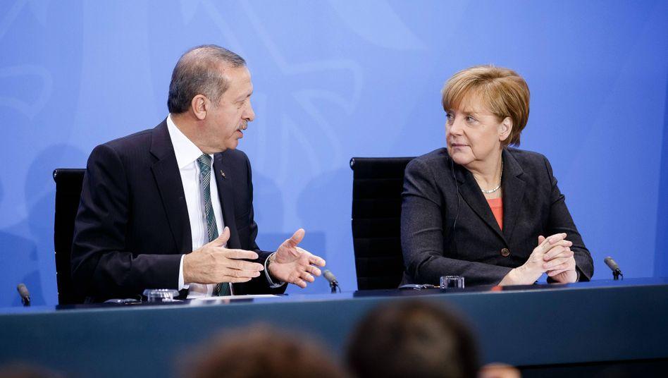 Kanzlerin Merkel, Staatspräsident Erdogan