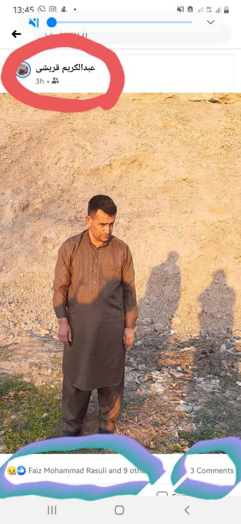Morddokument auf Facebook: Momente vor seinem Tod fotografierten die Taliban Rustamis Schwager und luden Bilder seiner Ermordung auf seinem Account hoch – zur Abschreckung