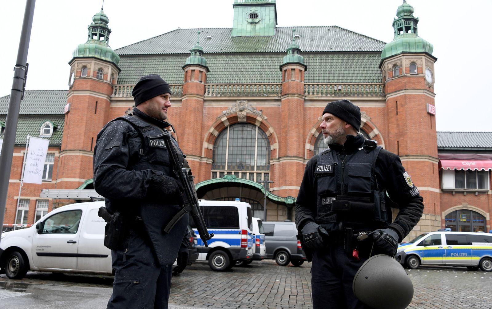 Bombendrohung am Lübecker Bahnhof