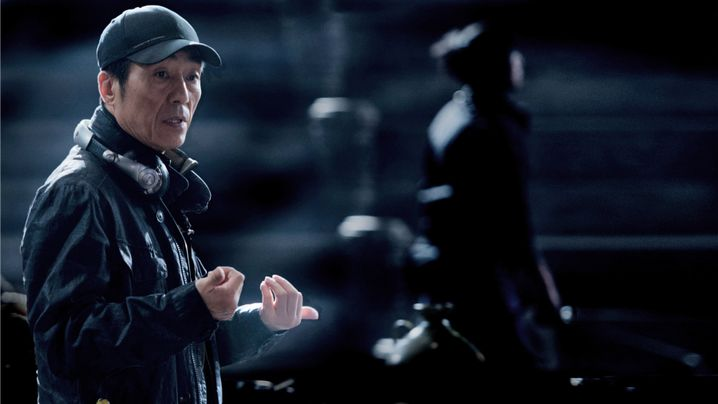 """Regisseur Zhang Yimou bei den Dreharbeiten zu """"The Great Wall"""""""