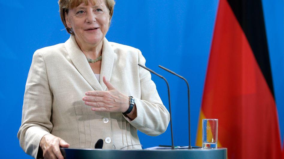 """Kanzlerin Merkel: """"Moralisch im Recht"""""""