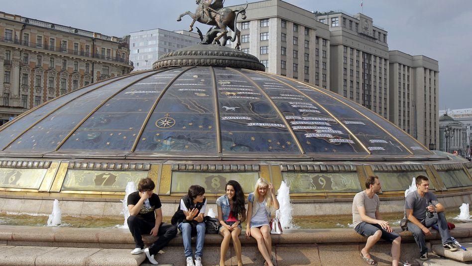 Blick auf die Staatliche Duma in Moskau: Tweet als angeblicher Beleg der Wahleinmischung