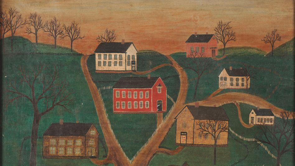 Von Trotter gefälschtes Ölgemälde - es war mit Sarah Honn und der Jahreszahl 1866 signiert.