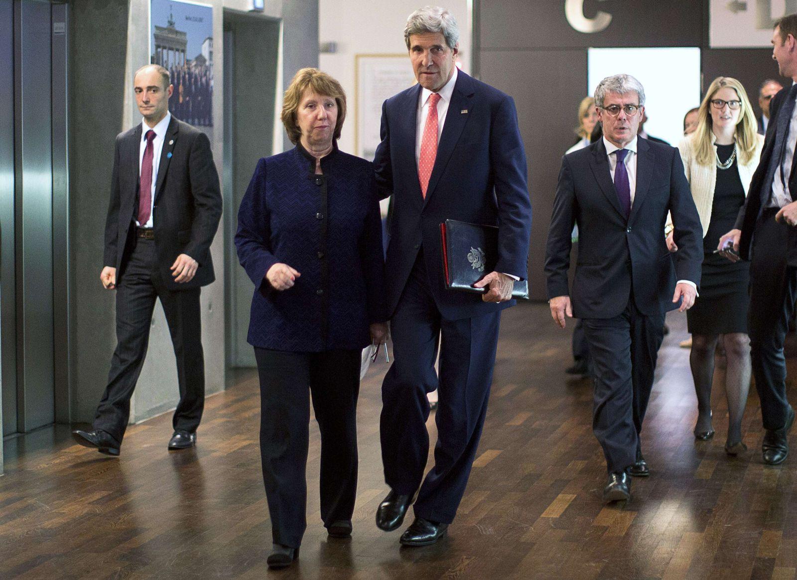 Genf Atomgespräche Iran Kerry Ashton