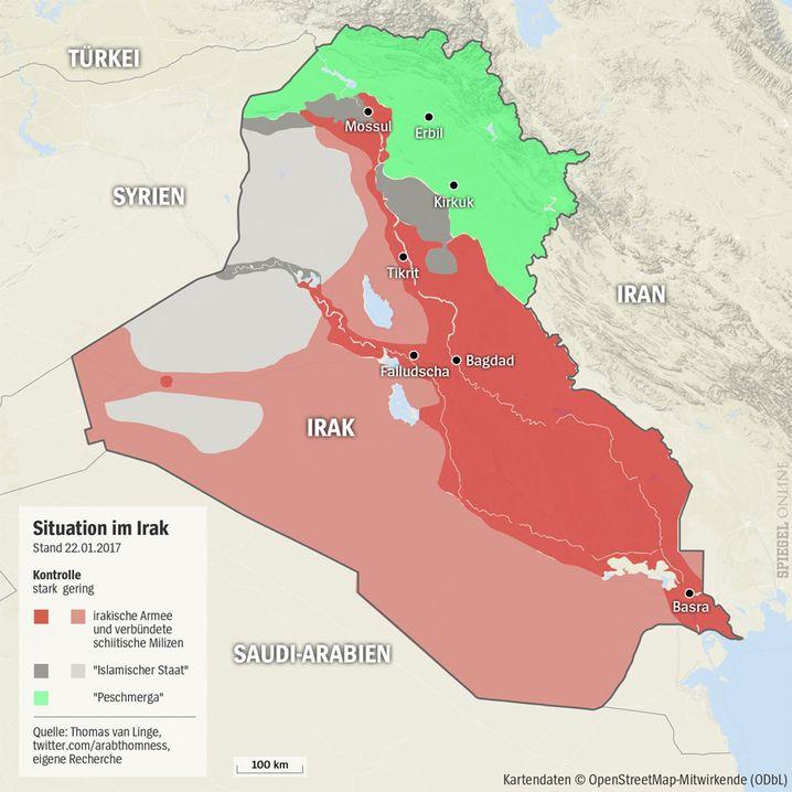 Machtverteilung im Irak