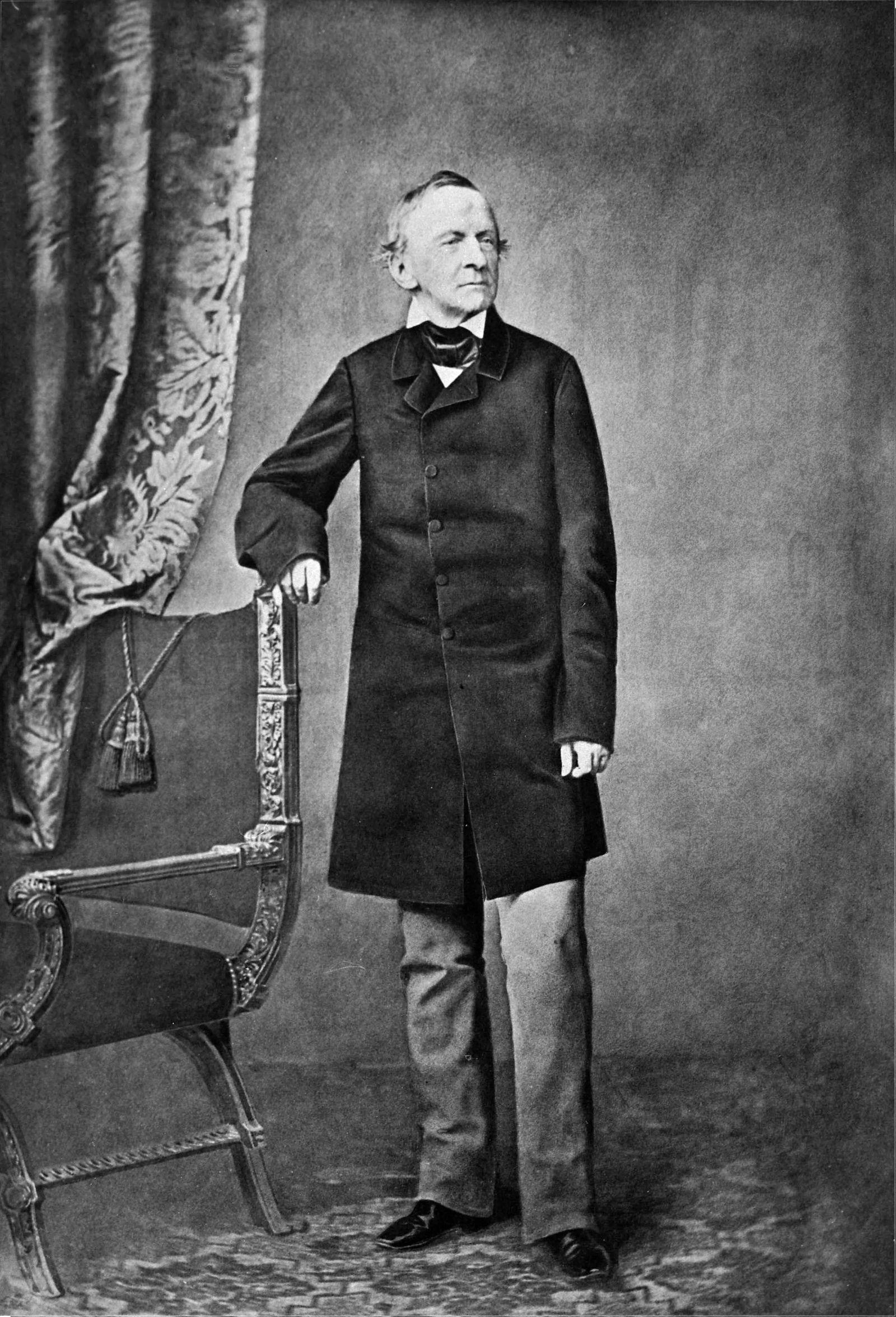König Ludwig I. von Bayern, nach Rücktritt als König wegen Lola-Montez-Affäre , Fotorafie von Josef Albert 1868. in Mün