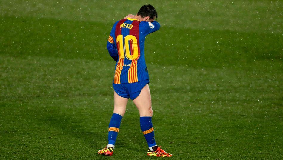Hat wieder mit dem FC Barcelona gegen Real verloren: Lionel Messi