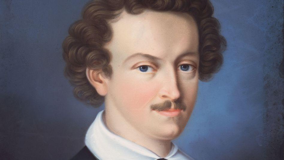 Bildnis eines Mannes mit Freimaurerorden. Es wurde 1985 im Kunsthandel als Porträt Georg Büchners angeboten.