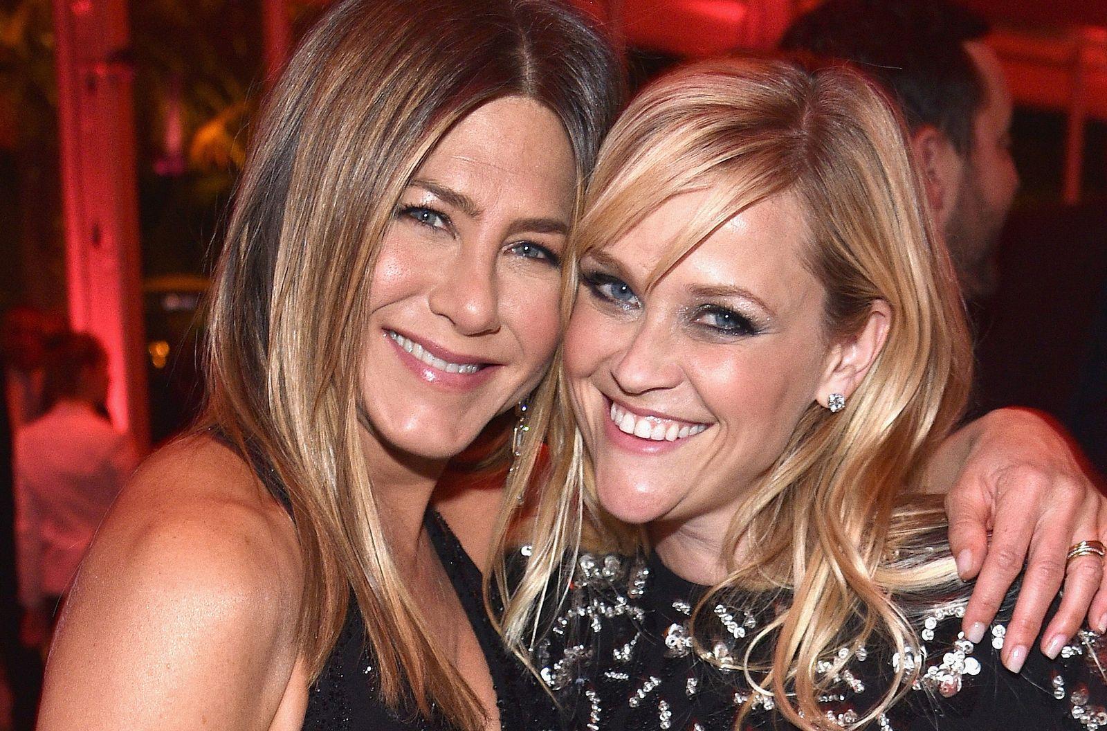 EINMALIGE VERWENDUNG Jennifer Aniston & Reese Witherspoon