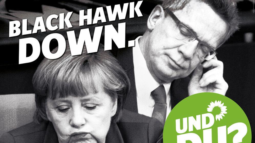 Grüne Plakate: Angriff auf Schwarz-Gelb