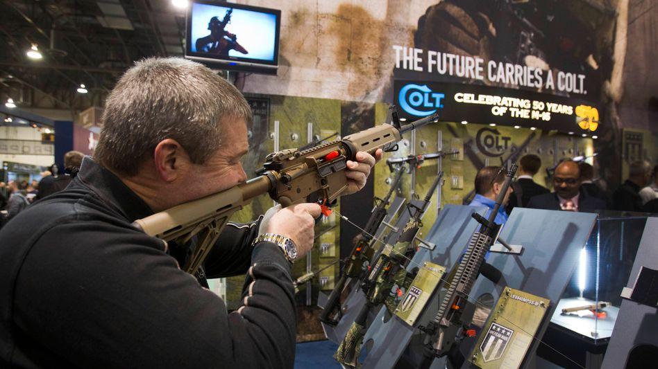 Colt-Waffen auf einer Messe in Las Vegas: Traditionsfirma in Nöten
