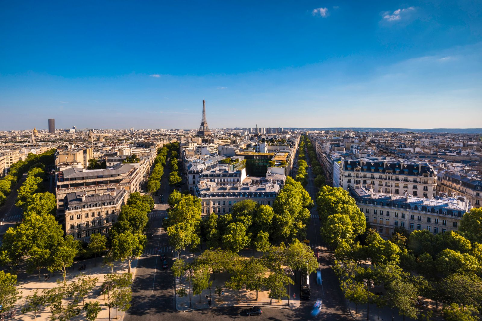 Aerial view of Paris skyline, France HSIF00805