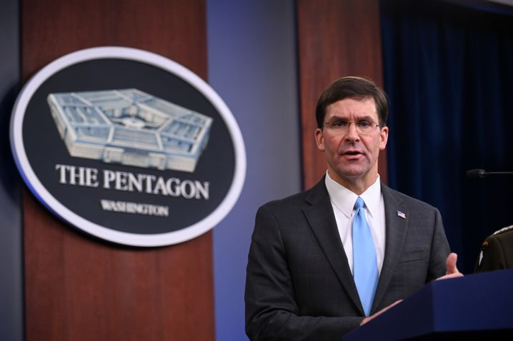 """US-Verteidigungsminister Esper: """"Nichts über vier Botschaften gesehen"""""""