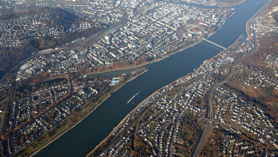 Weltkriegsbombe im Rhein: Halb Koblenz wird evakuiert