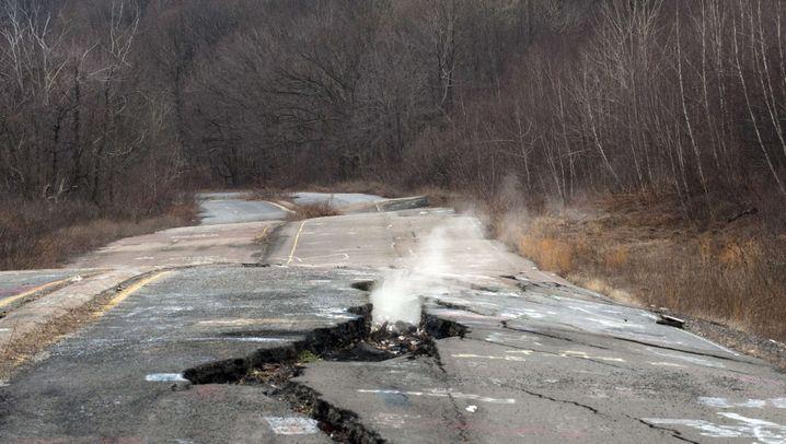 Centralia, Pennsylvania: Rauchschwaden und Schwefelgeruch