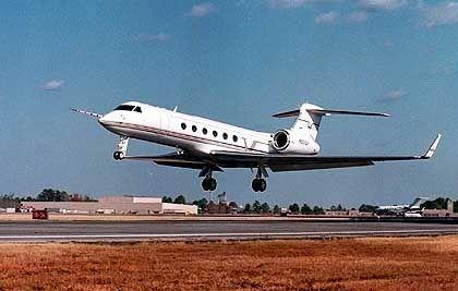 Gulfstream V: Der Jet wird rund um den Globus beobachtet
