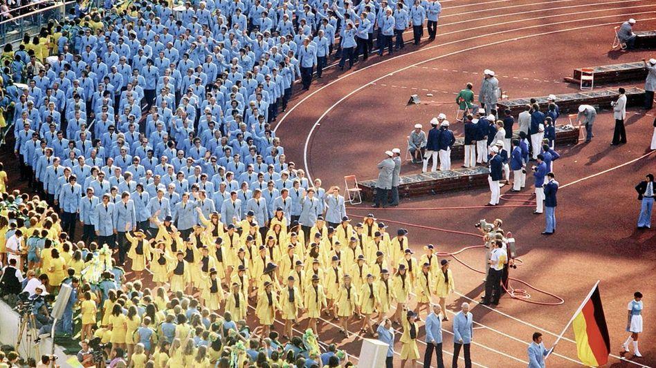 Olympiamannschaft der Bundesrepublik 1972 in München