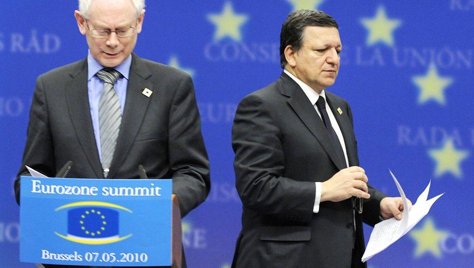 EU-Ratspräsident van Rompuy, Kommissionspräsident Barroso: Die Verantwortlichen sind abgetaucht