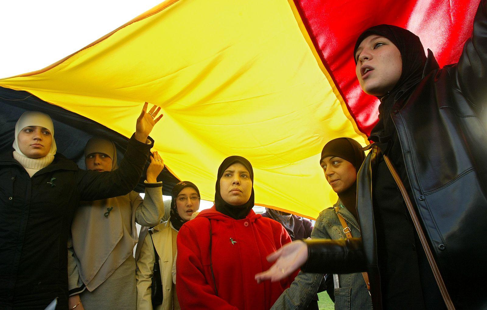 Belgien / Muslime / Protest