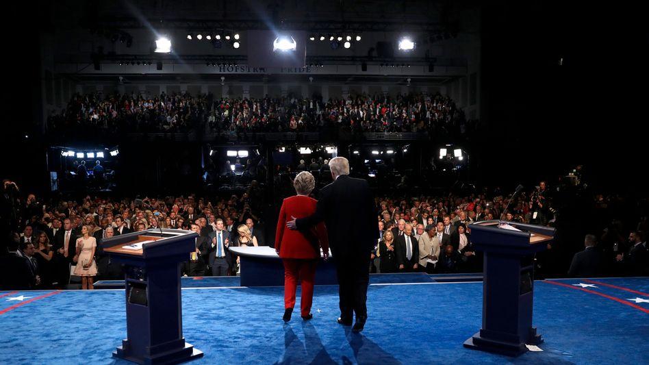 Wahlkämpfer Clinton, Trump