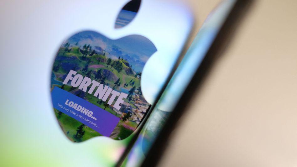 »Fortnite«-Logo, Apple-Gerät