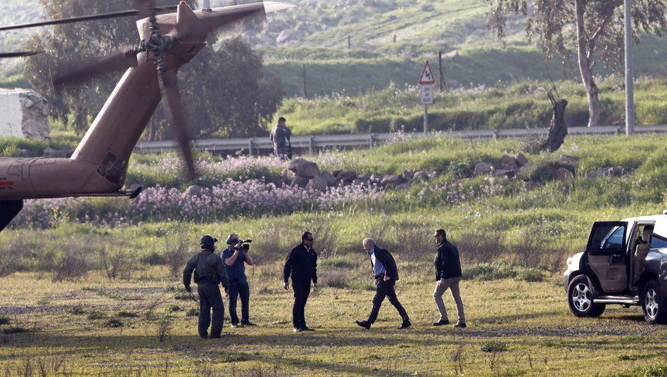 Senator Lindsey Graham auf dem Weg zu den Golanhöhen
