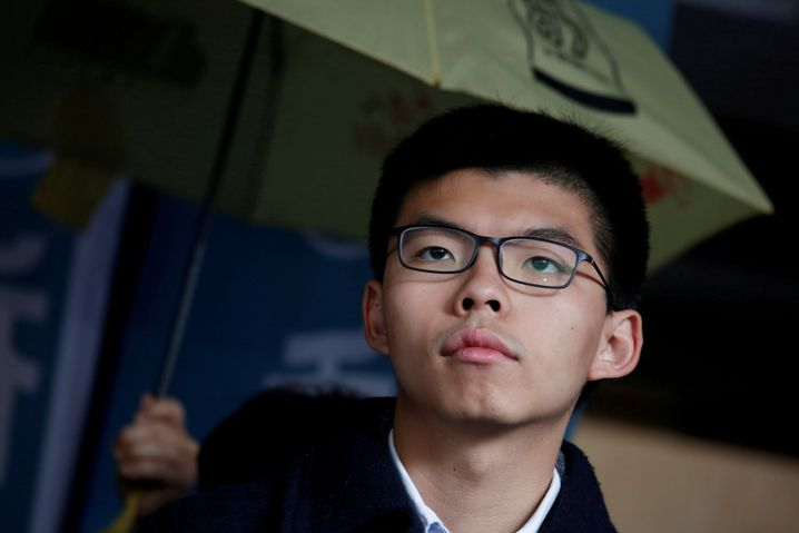 Joshua Wong vor Gericht in Hongkong