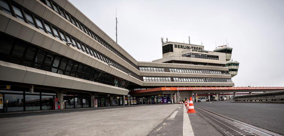 Menschenleeres Terminal A des Flughafens Tegel: Am Mittwoch endgültig Geschichte