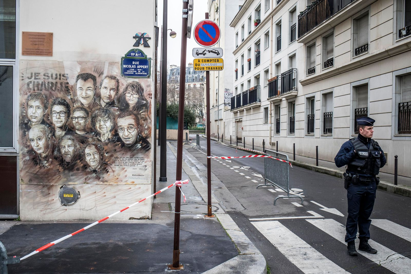 5th anniversary of attack on Charlie Hebdo magazine in Paris, France - 07 Jan 2020
