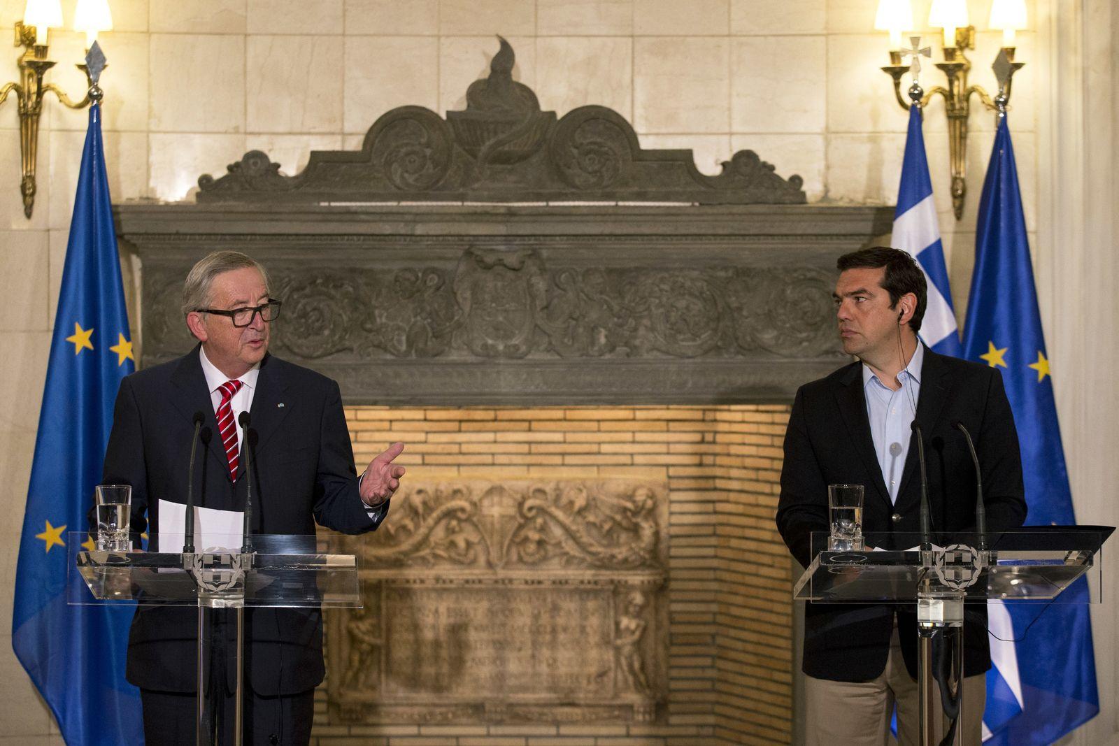 Griechenland EU Juncker Tsipras