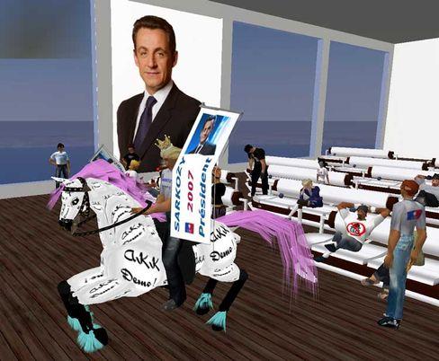 """Wahlkampfbüro im Virtuellen: Sarkozy in """"Second Life"""""""