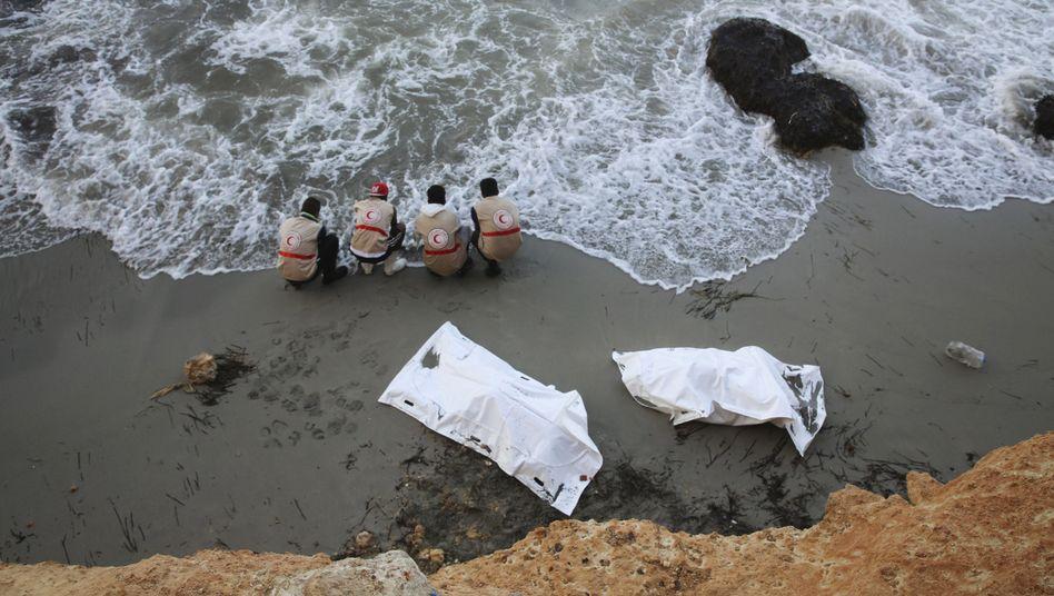 Leichen an der libyschen Küste: 95 Tote in fünf Tagen