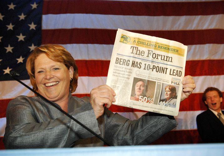 Demokratin Heitkamp: Entgegen der Prognosen den Senatssitz in North Dakota geholt