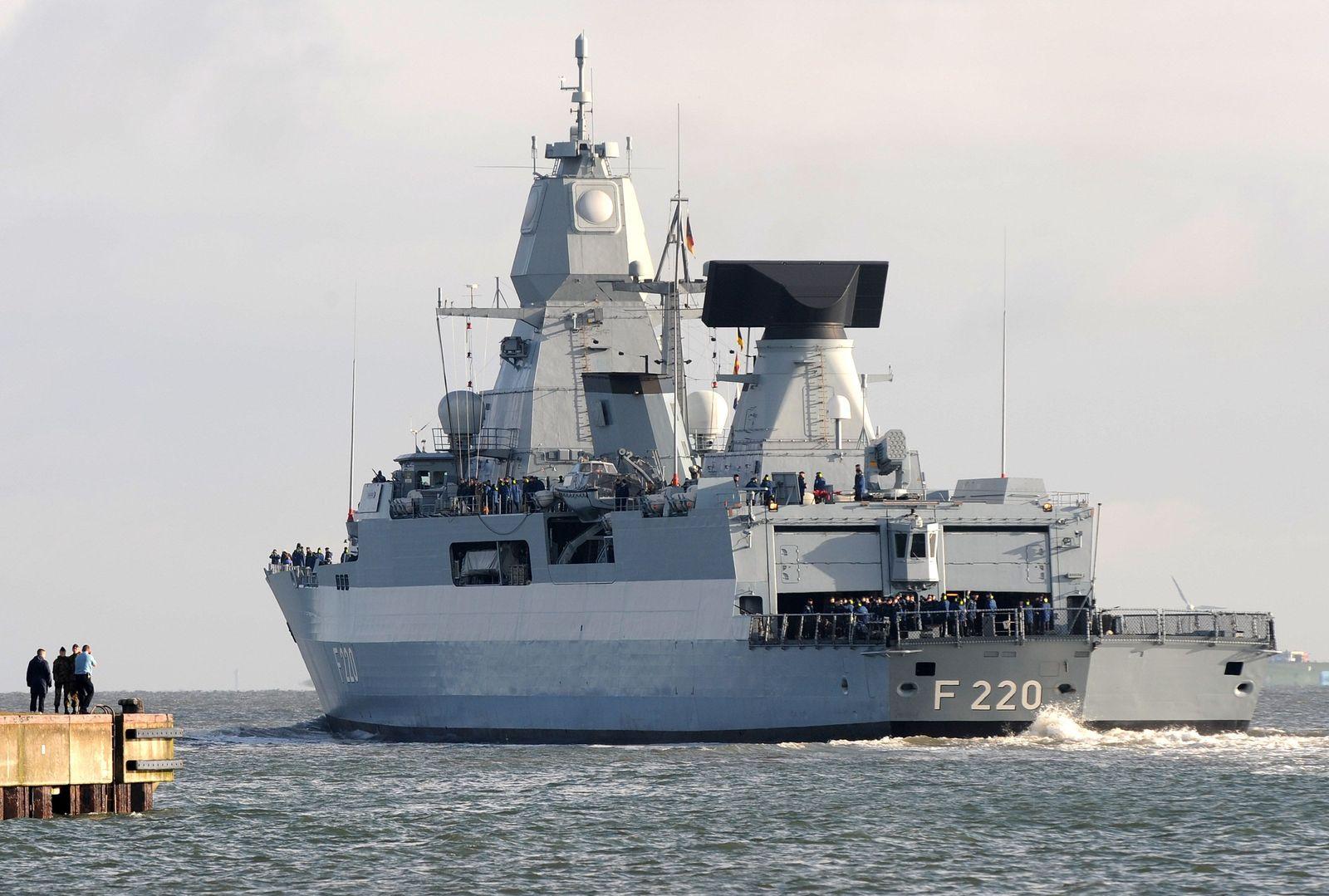 """Fregatte """"Hamburg""""/ F124"""