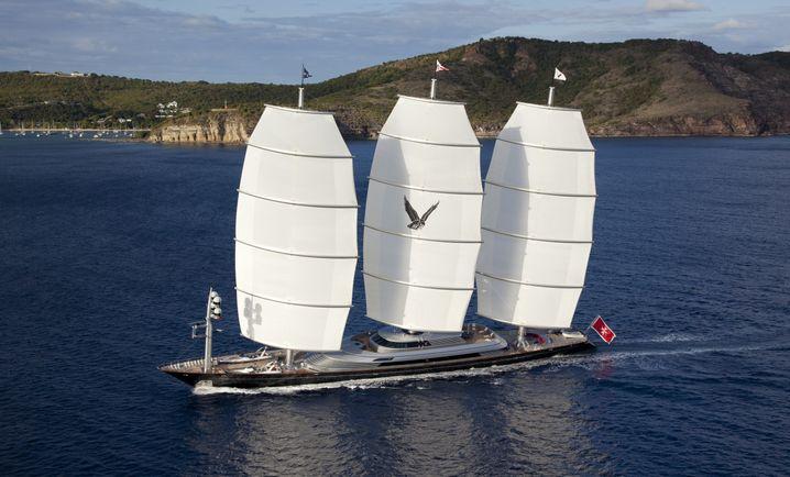 Die Segelyacht Maltese Falcon