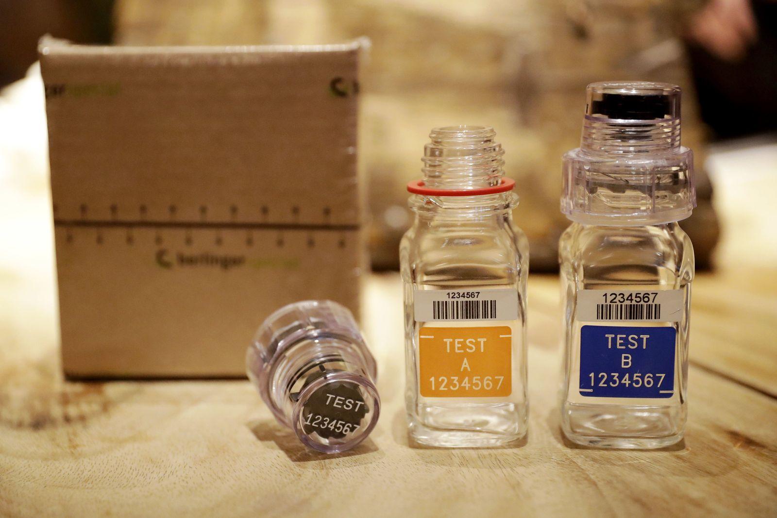 Olympics Doping Sample Bottles BEREG