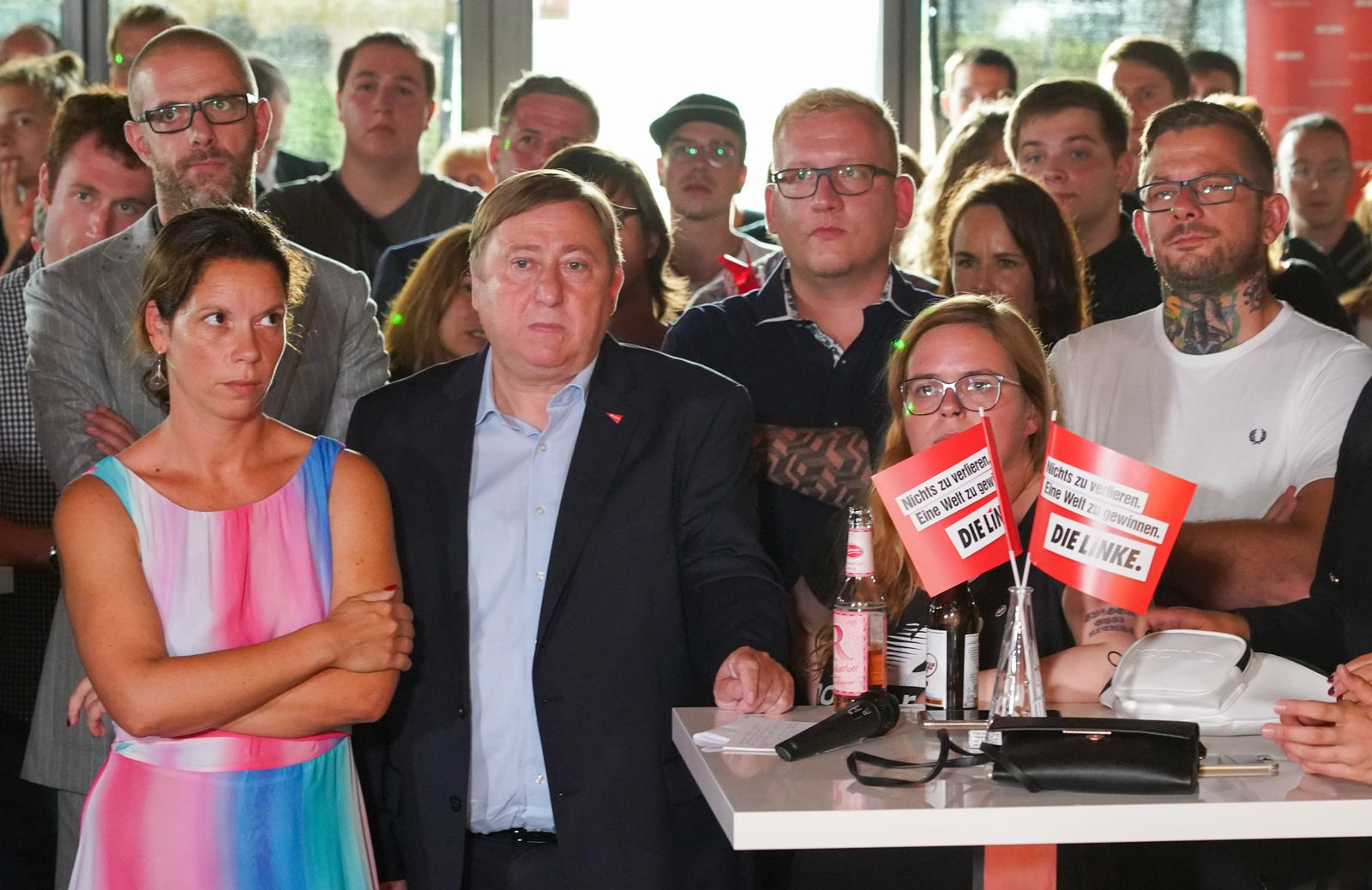 Linke Wahlparty in Sachsen