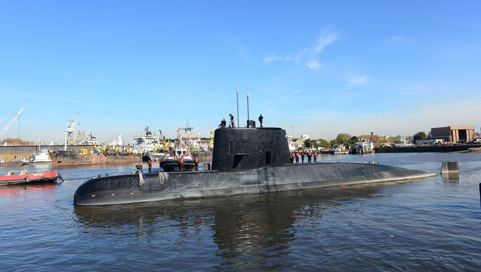 """Argentinisches U-Boot """"San Juan"""" (Archivbild)"""