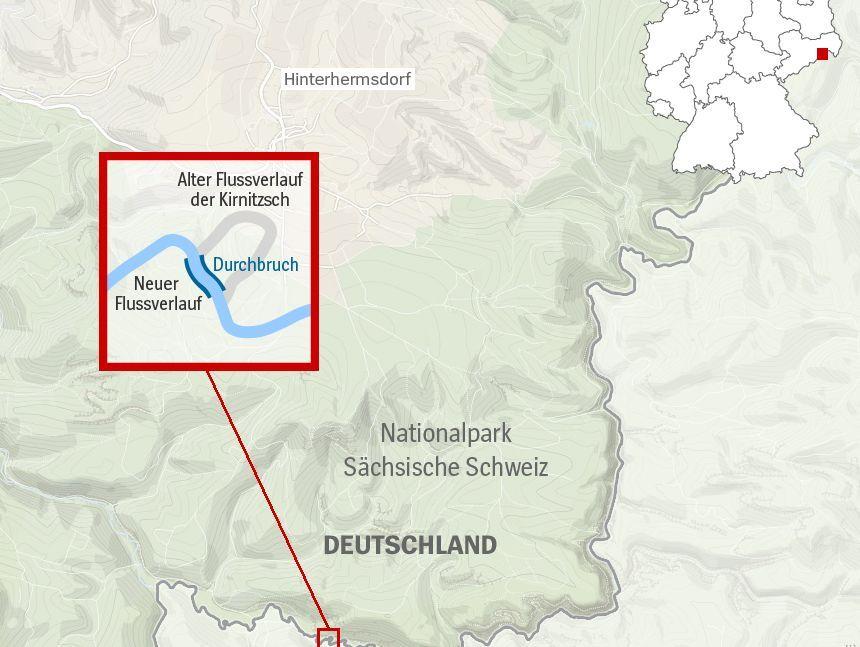 Grenzfluss In Sachsen Ist Deutschland 500 Quadratmeter Grosser