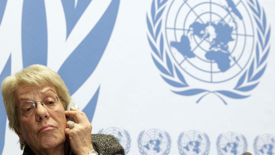 Uno-Expertin Del Ponte: Zurückgepfiffen von den Vereinten Nationen
