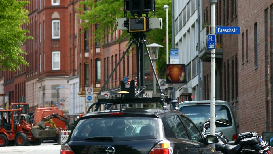 A car taking photographs for Google's Street View service is pictured here in Kiel, Germany, in 2009.