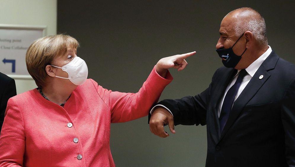Gesprächspartner Merkel, Borissow 2020: »Adju fliegt morgen nach Sofia«