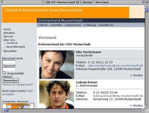 """Frau Mustermann: Gibt's auch als Version """"Elke"""" - auf einer CDU-Seite im Web"""