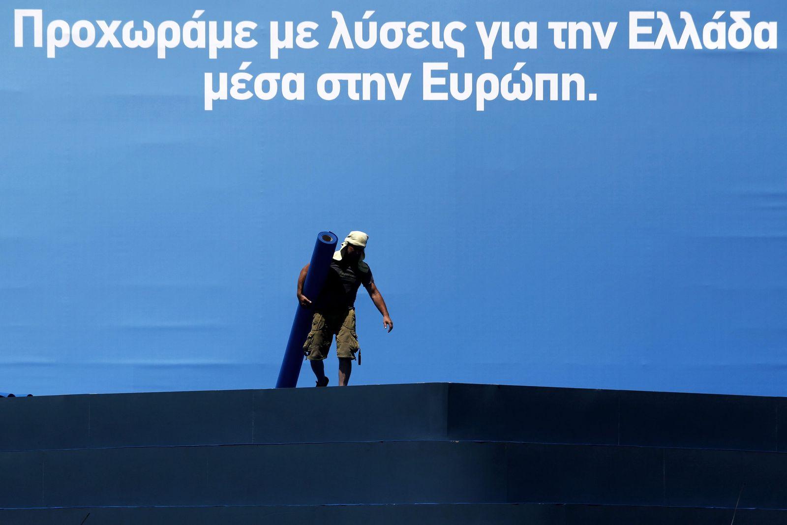 Griechenland / Wahlwerbung