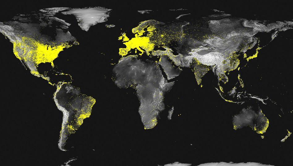 Karte der aktiven Subnetzwerke 2012