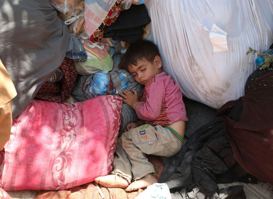 Die Vertriebenen aus den nördlichen Provinzen Afghanistans leben in windigen Zelten, schon jetzt droht Hunger