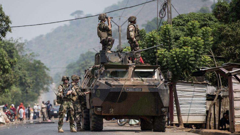 Französische Soldaten in Bangui: Entlastung durch EU-Truppen