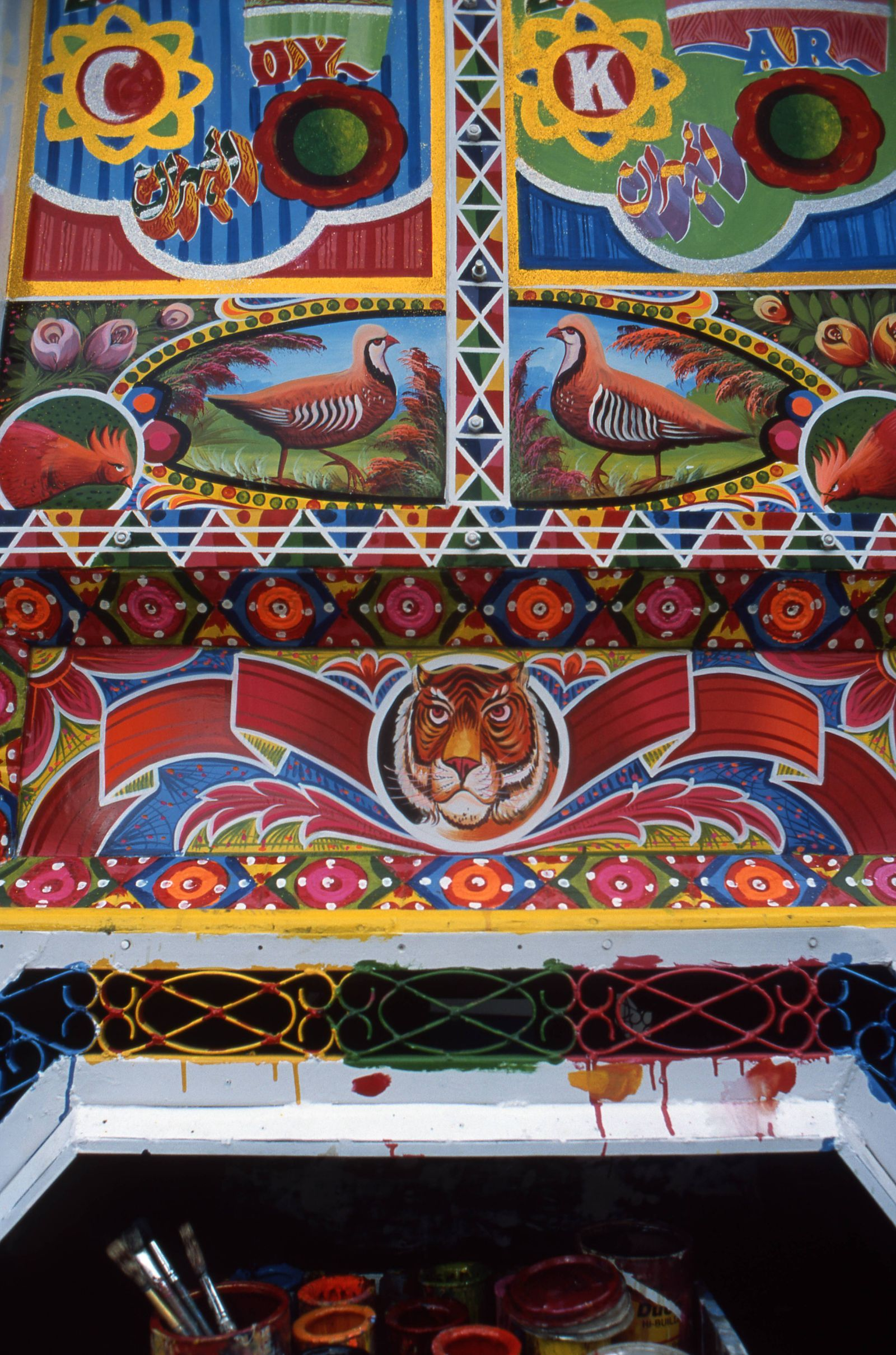 Body fitting a hall mark folk art of Pakistan has turned its village lanes city streets and long