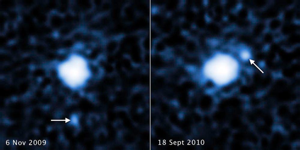 EINMALIGE VERWENDUNG Hubble/ Mond Zwergplanet